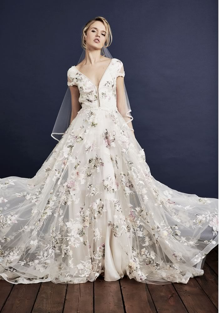 embroidered wedding dresses photo - 1