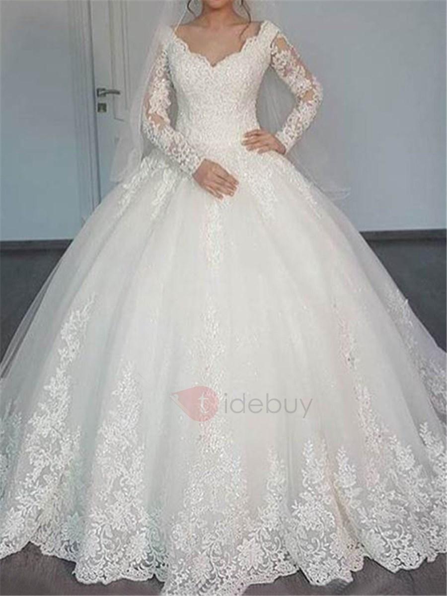 empire waist ball gown wedding dresses photo - 1