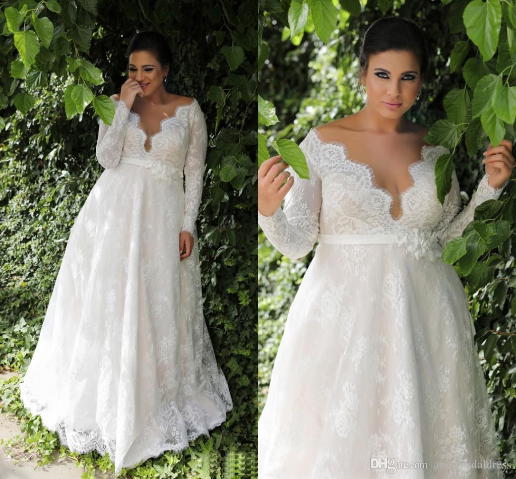 empire waist short wedding dresses photo - 1