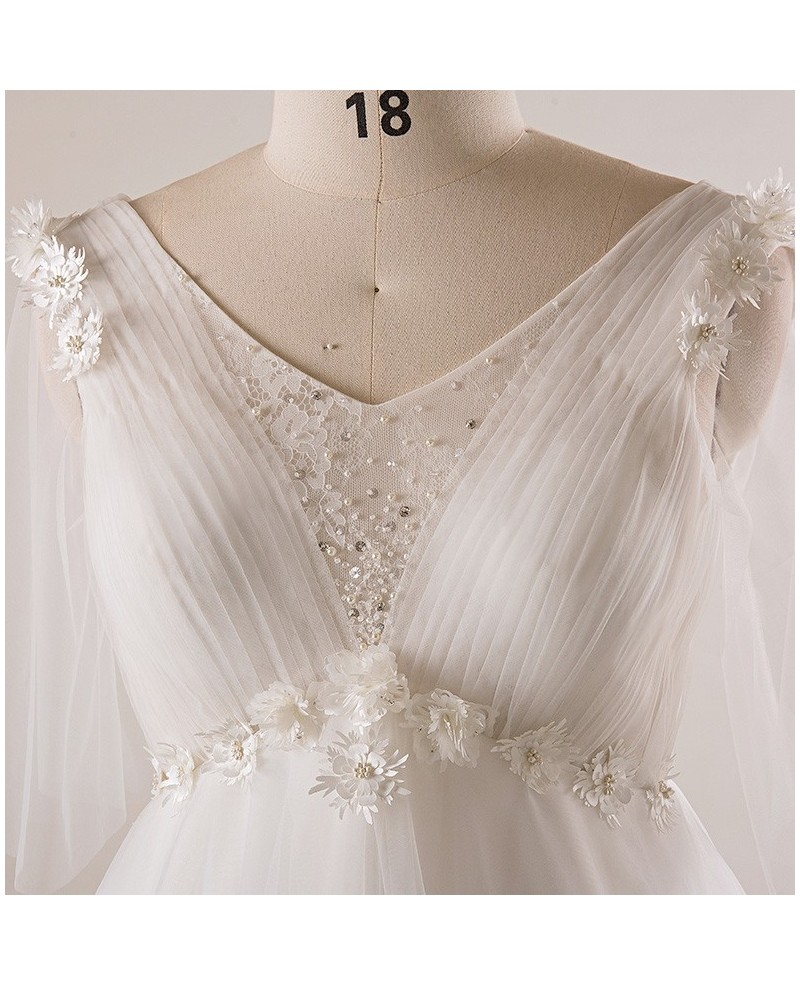 empire waist wedding dresses with sleeves photo - 1