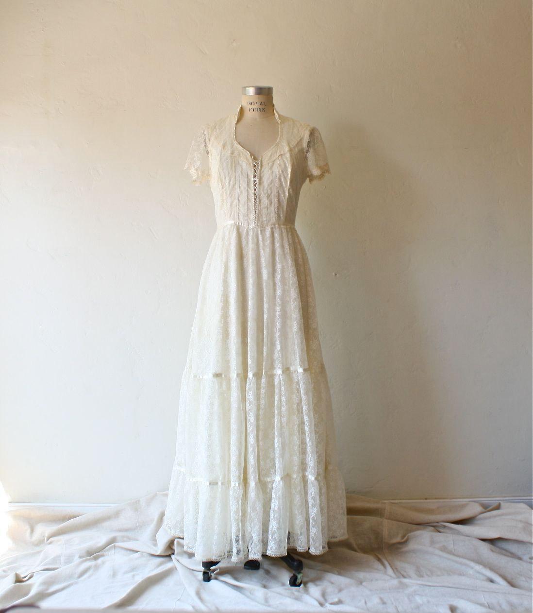 etsy wedding dresses lace photo - 1