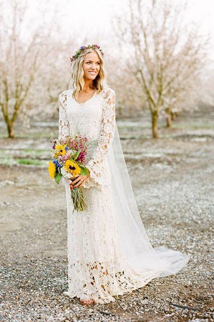 fall casual wedding dresses photo - 1