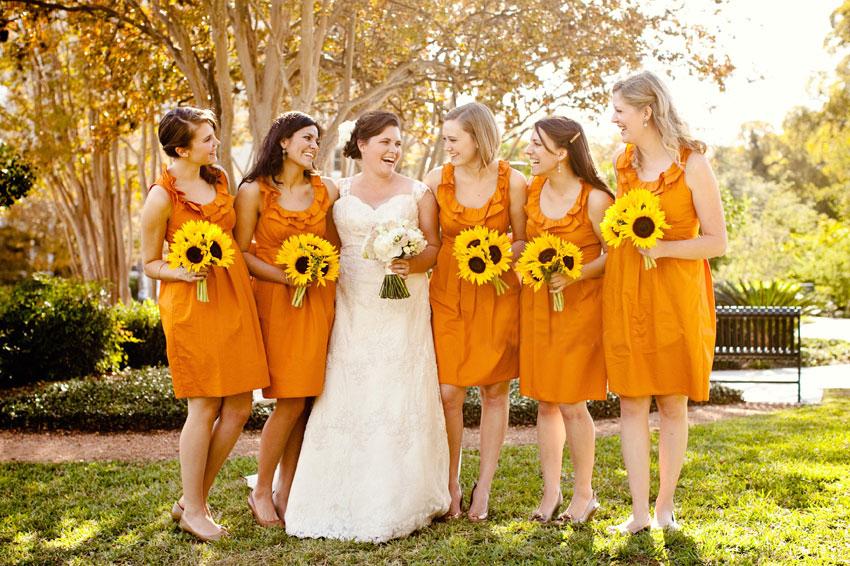fall wedding colors bridesmaid dresses photo - 1