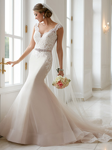 fitted beach wedding dresses photo - 1