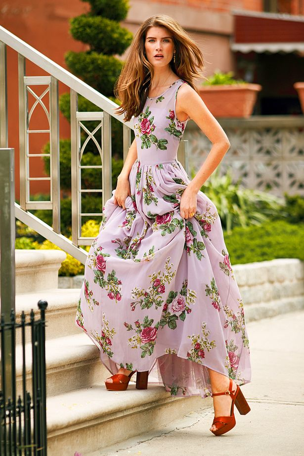 floral dresses to wear to a wedding photo - 1