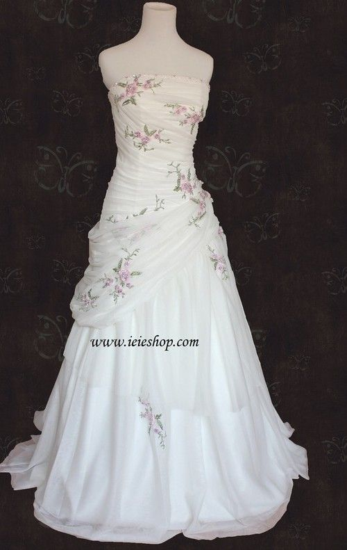 floral embroidered wedding dresses photo - 1