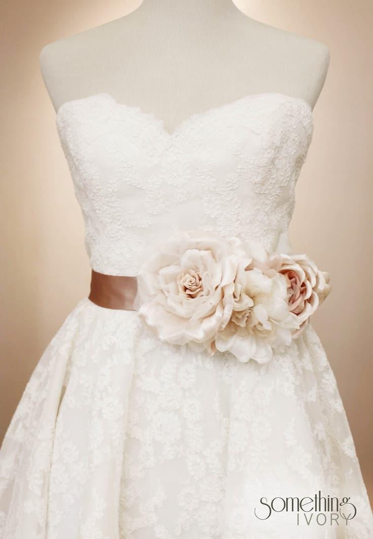 flower belts for wedding dresses photo - 1
