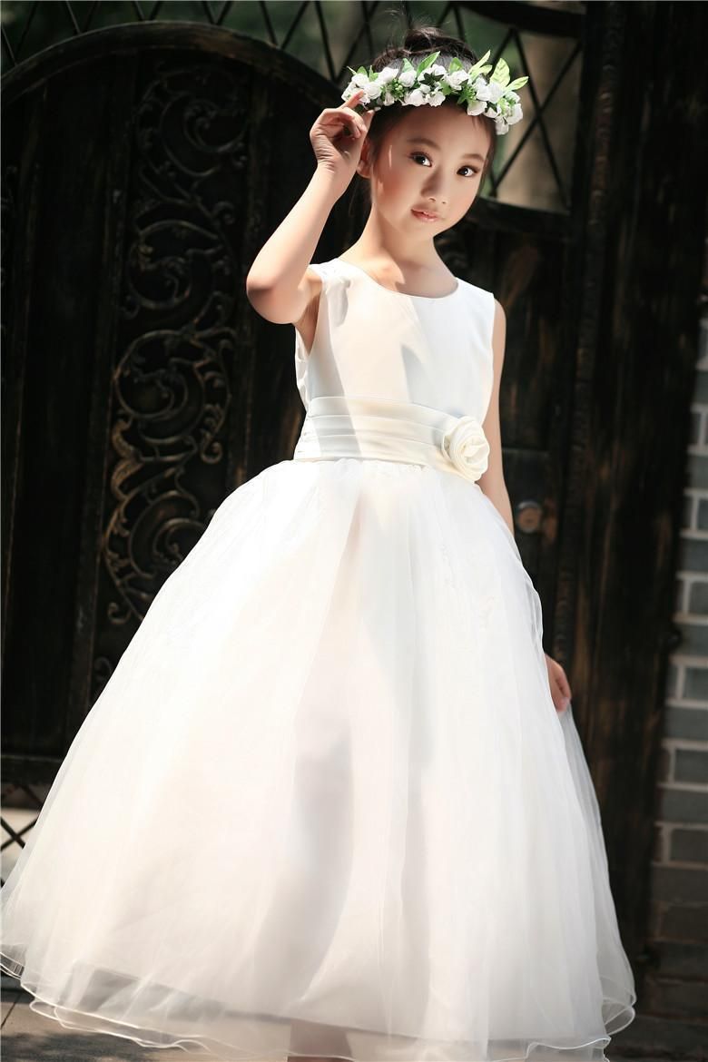 flower girl dresses summer wedding photo - 1