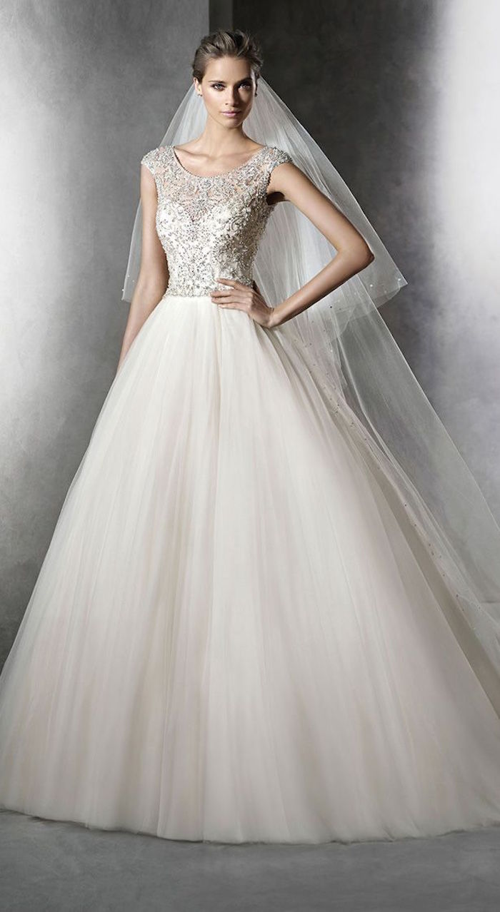 flowing wedding dresses with sleeves photo - 1