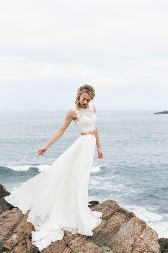 flowy beach wedding dresses photo - 1