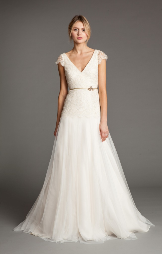 flowy wedding dresses with sleeves photo - 1