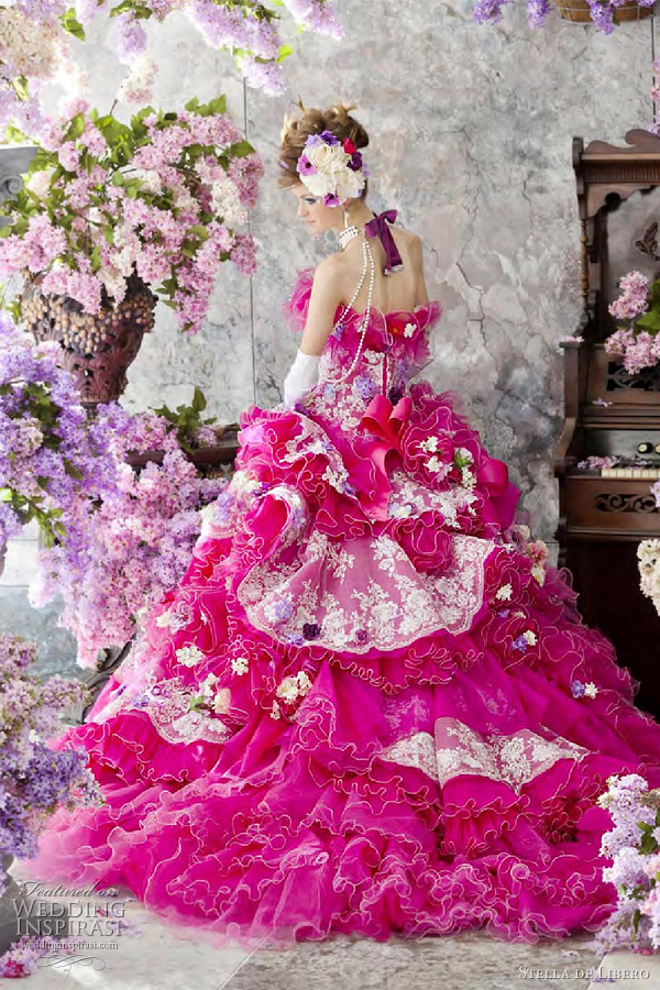 fuschia wedding dresses photo - 1