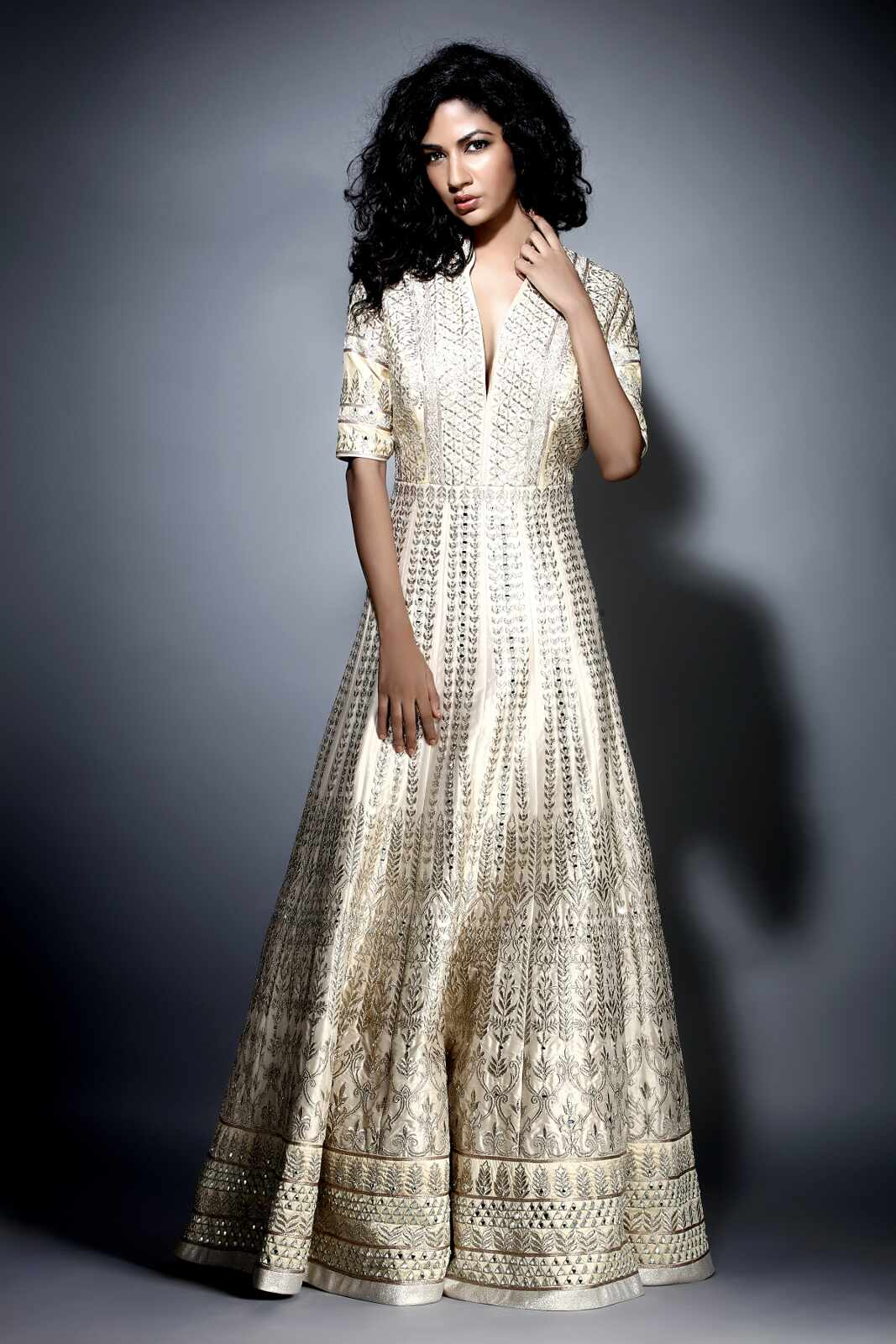 gold dresses for wedding party photo - 1