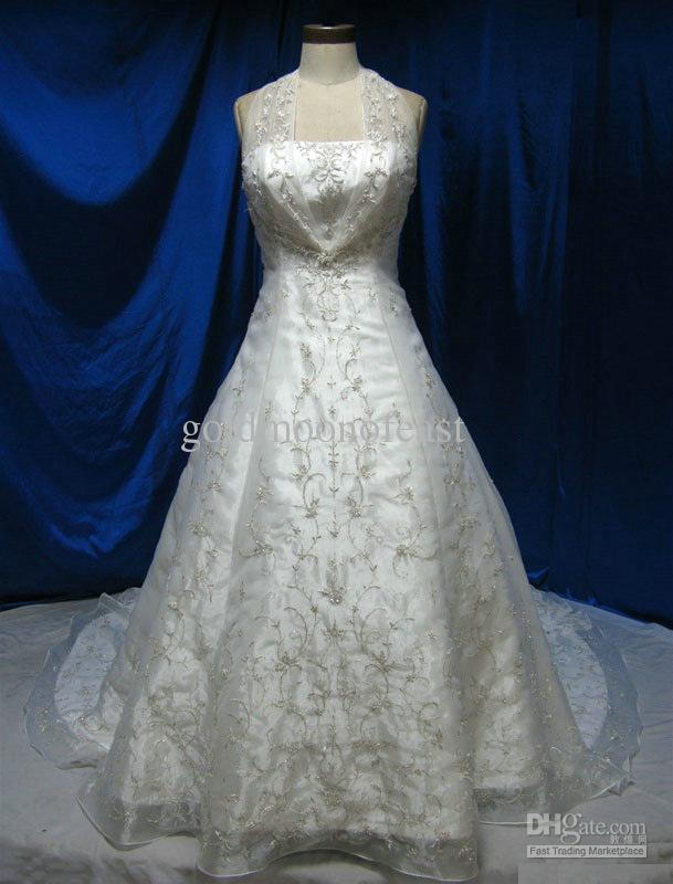 gold embroidery wedding dresses photo - 1