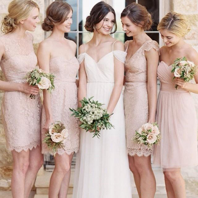 gold wedding bridesmaid dresses photo - 1