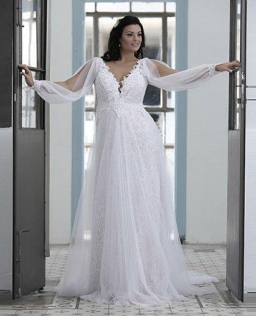 gold wedding dresses plus size photo - 1