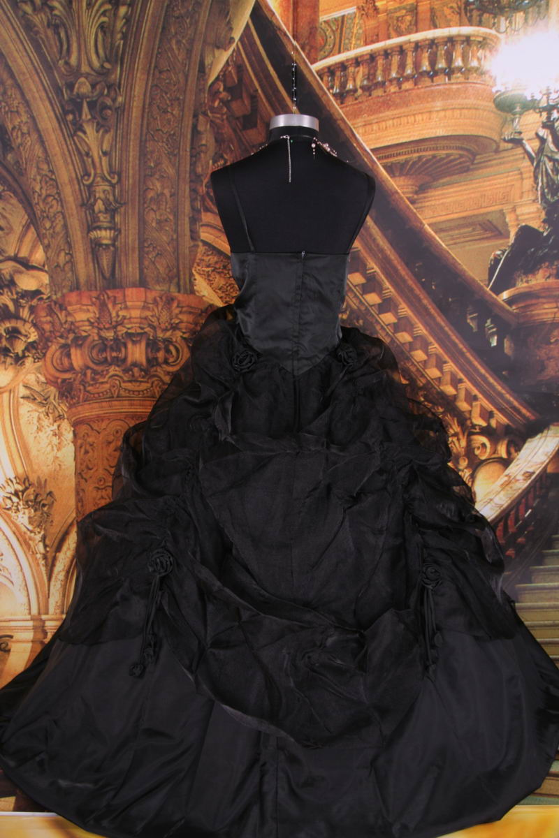 gothic black wedding dresses photo - 1