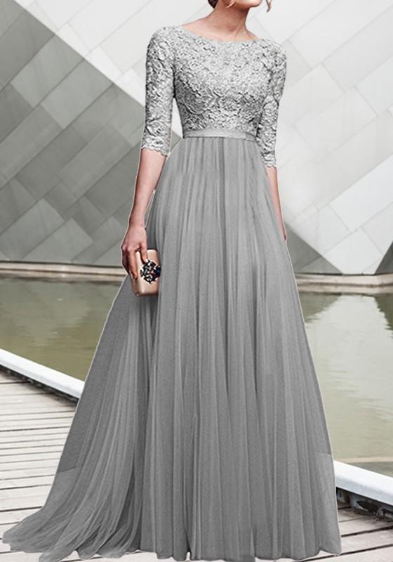 gray dresses for wedding photo - 1