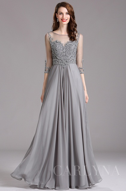 gray wedding dresses photo - 1