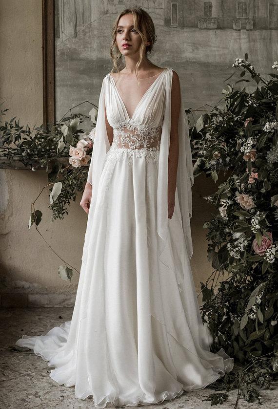 greek wedding dresses photo - 1