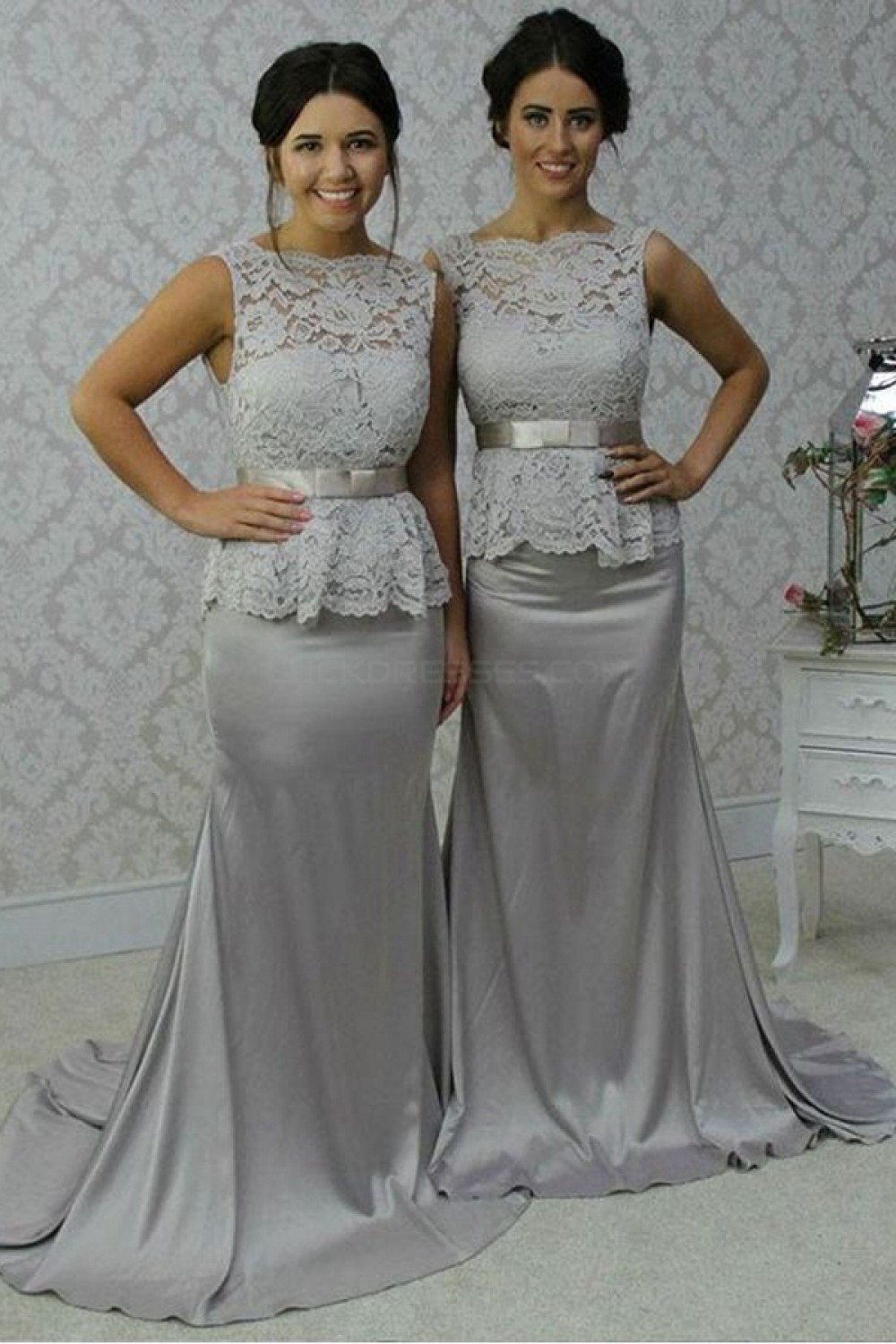 green and white wedding dresses photo - 1