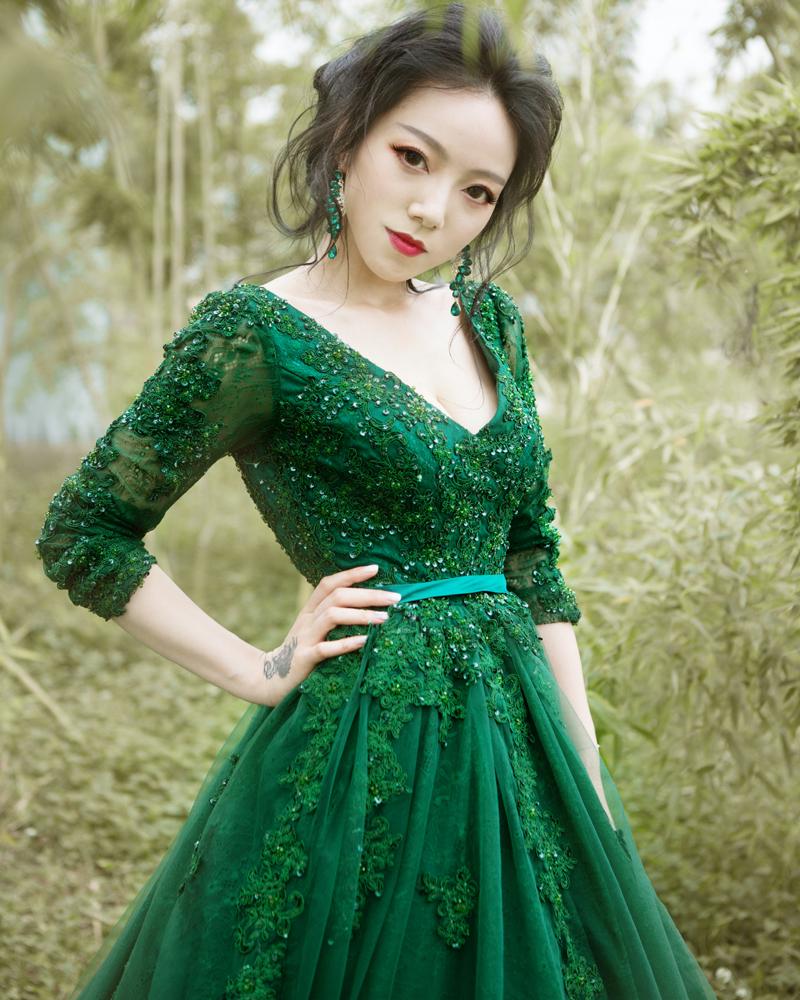 green wedding dresses photo - 1