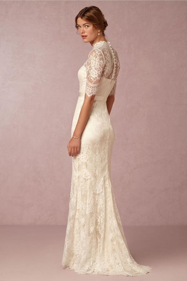 half sleeve lace wedding dresses photo - 1