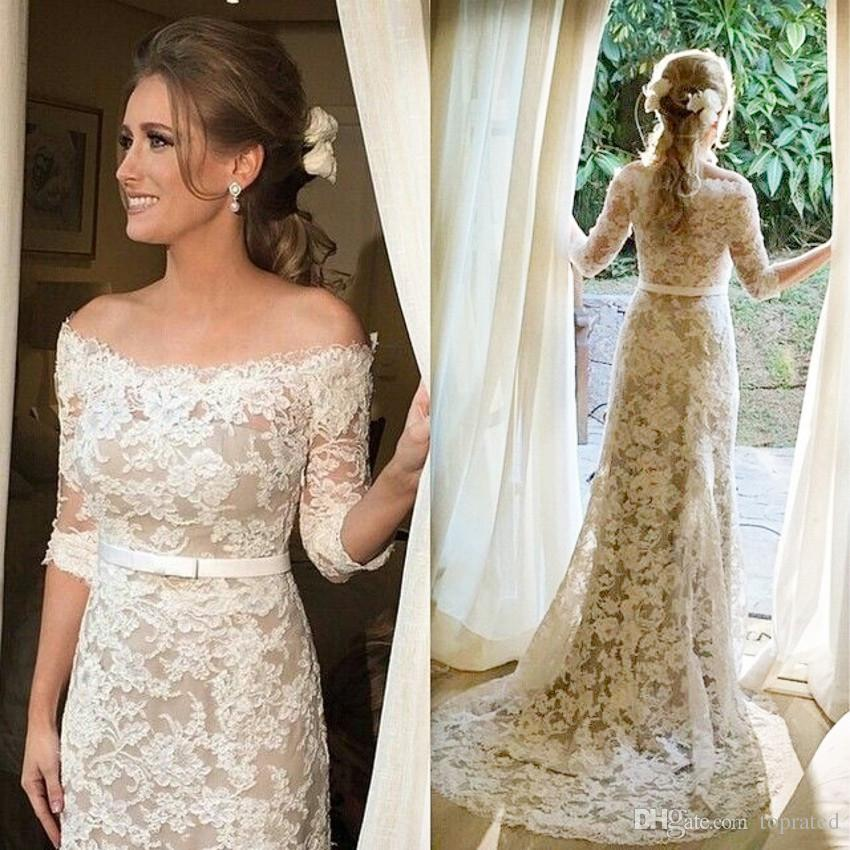 half sleeves wedding dresses photo - 1