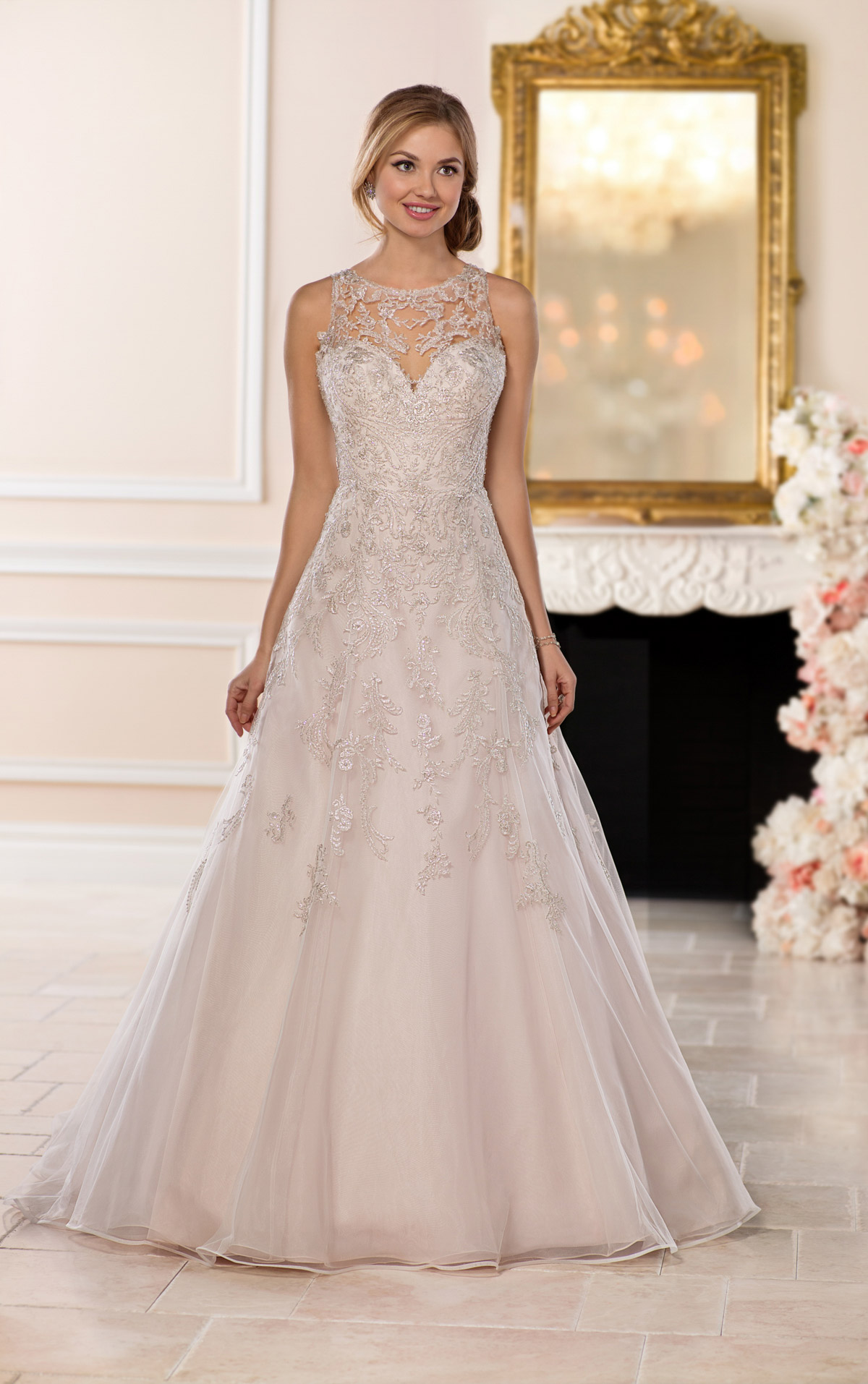 halter style wedding dresses photo - 1