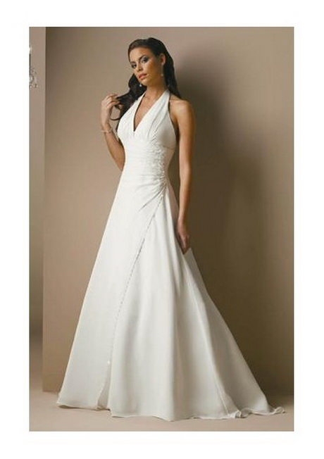 halter top ball gown wedding dresses photo - 1
