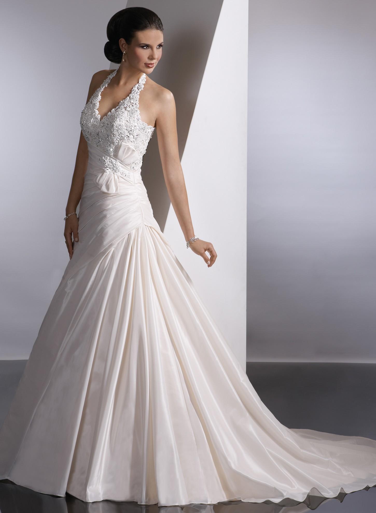 halter top beach wedding dresses photo - 1