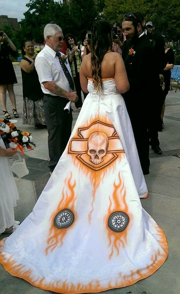 harley davidson wedding dresses photo - 1