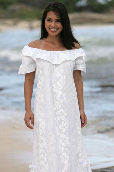hawaiian style wedding dresses photo - 1