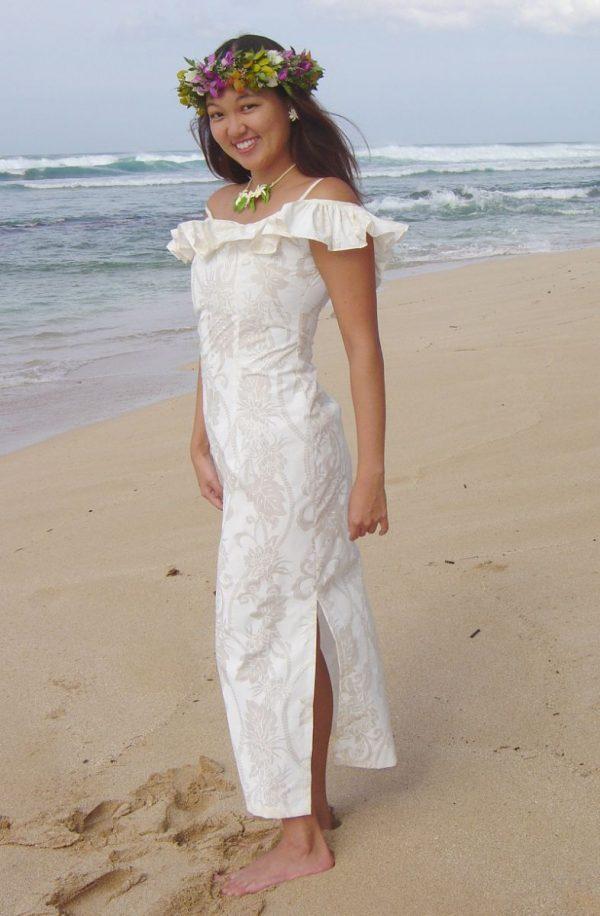 hawaiian wedding dresses casual photo - 1