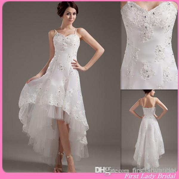 hi lo wedding dresses cheap photo - 1