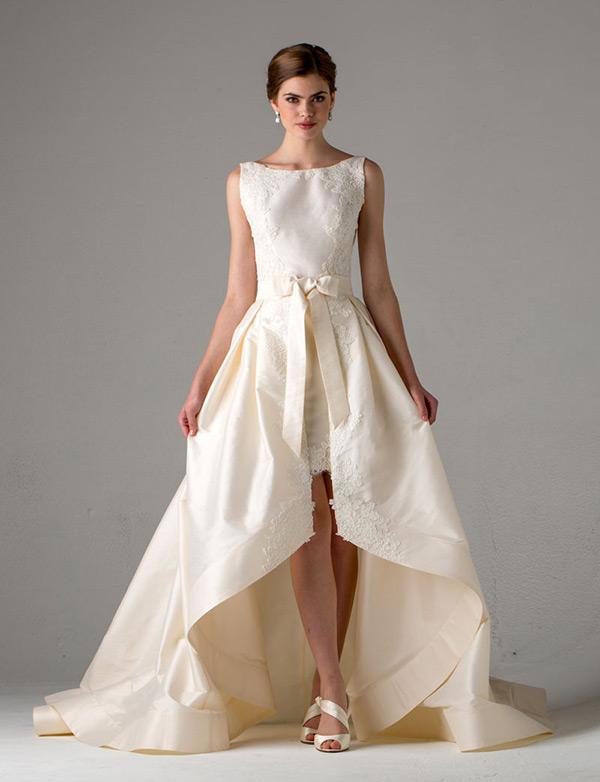 hi low hem wedding dresses photo - 1