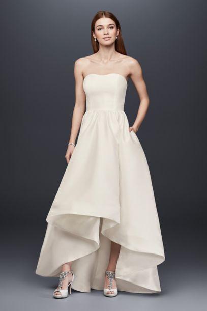 hi low hemline wedding dresses photo - 1