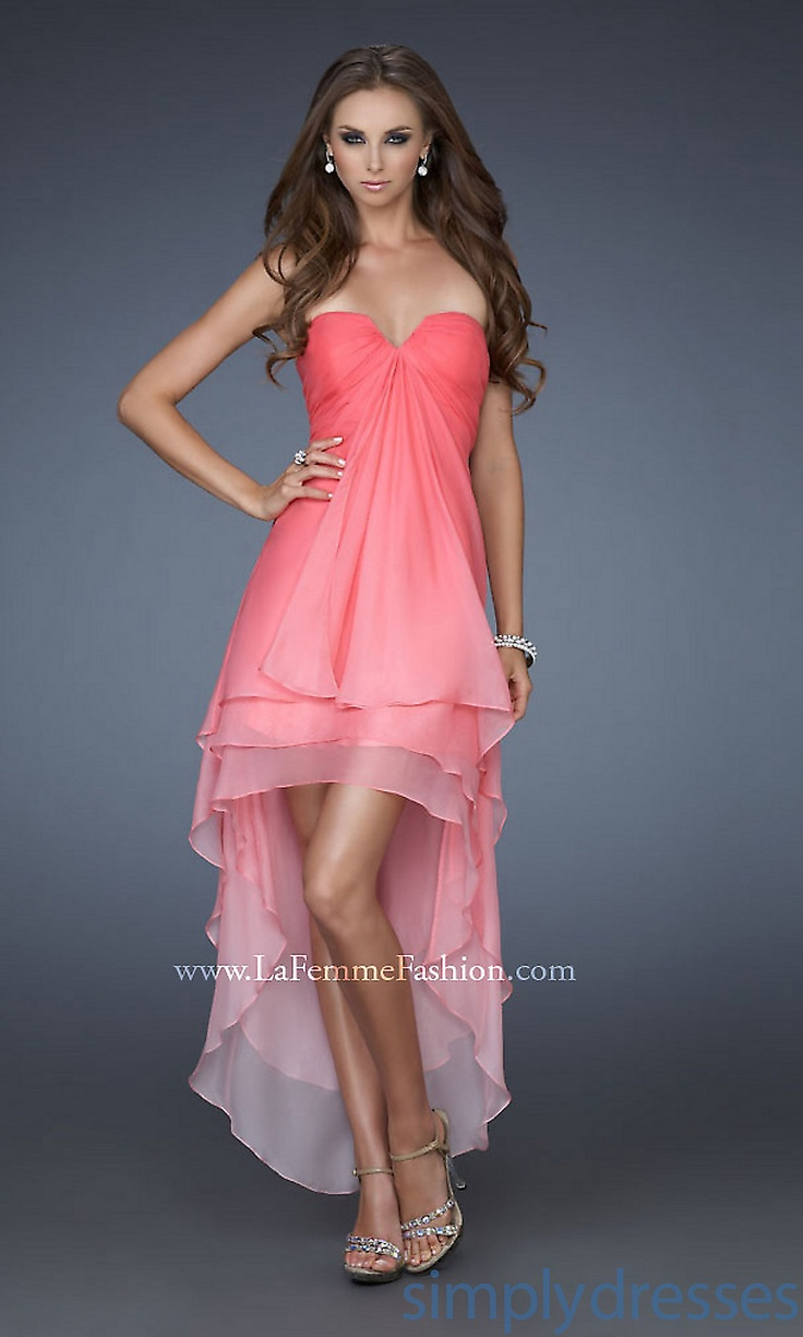 high and low wedding dresses photo - 1