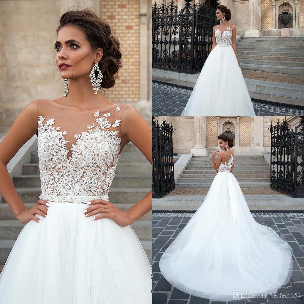 high back wedding dresses photo - 1