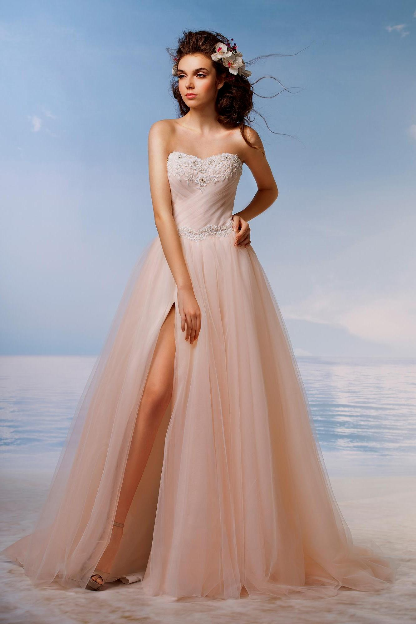 high low beach wedding dresses photo - 1