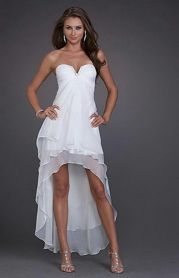 high low casual wedding dresses photo - 1
