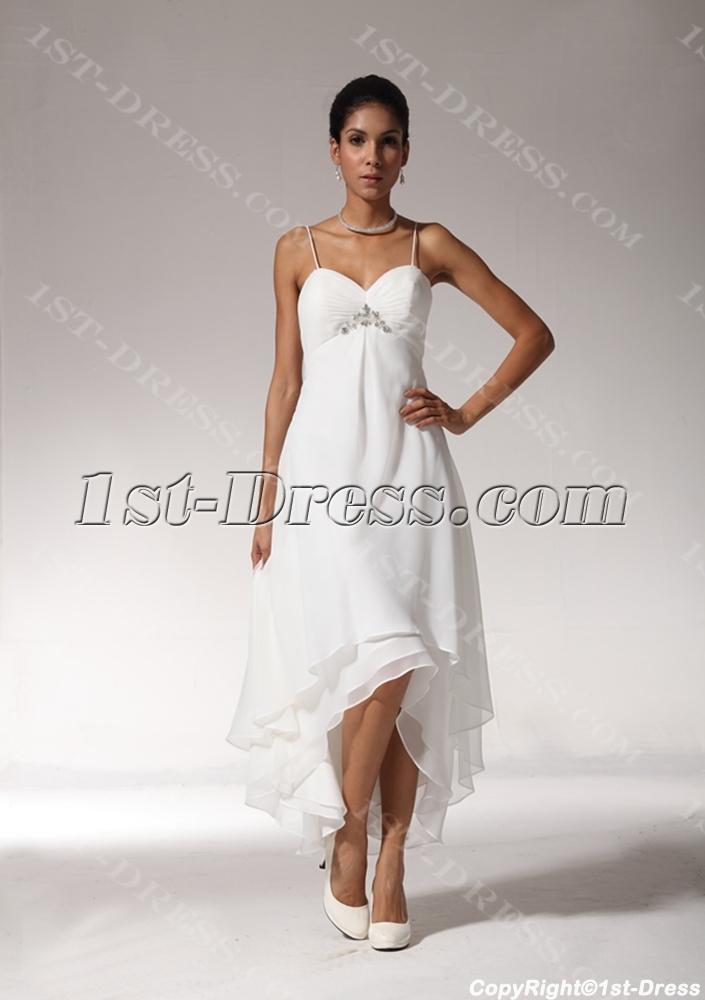 high low hem wedding dresses photo - 1