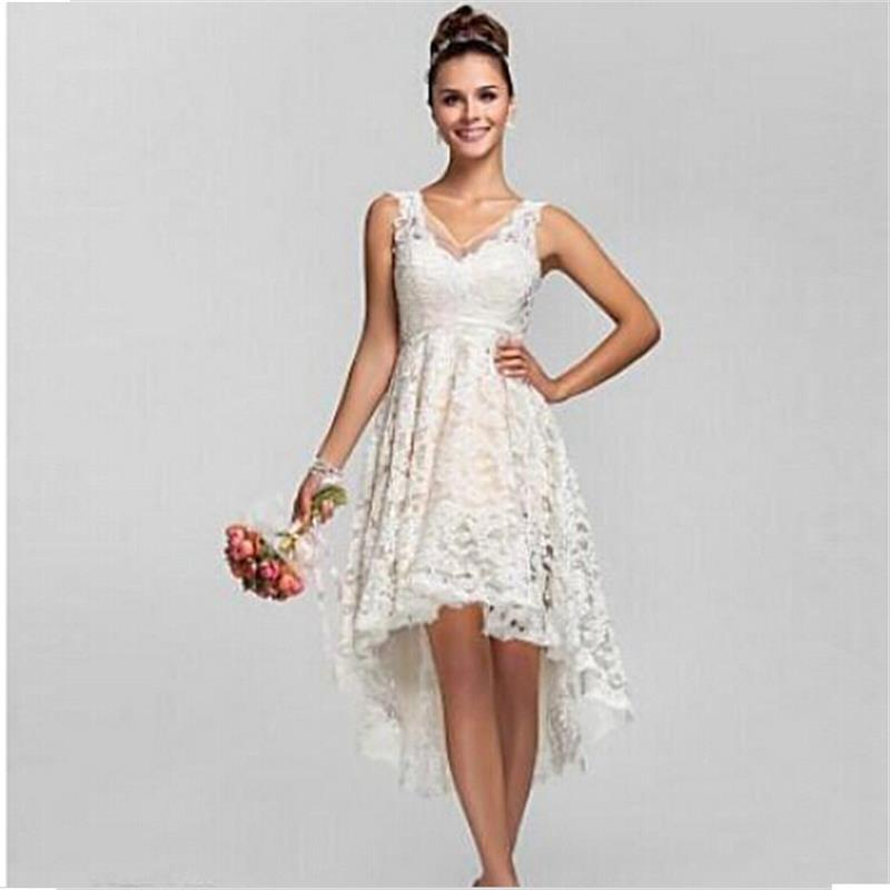 high low wedding dresses cheap photo - 1