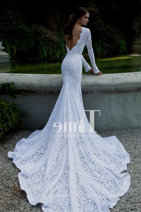 high low wedding dresses with sleeves photo - 1