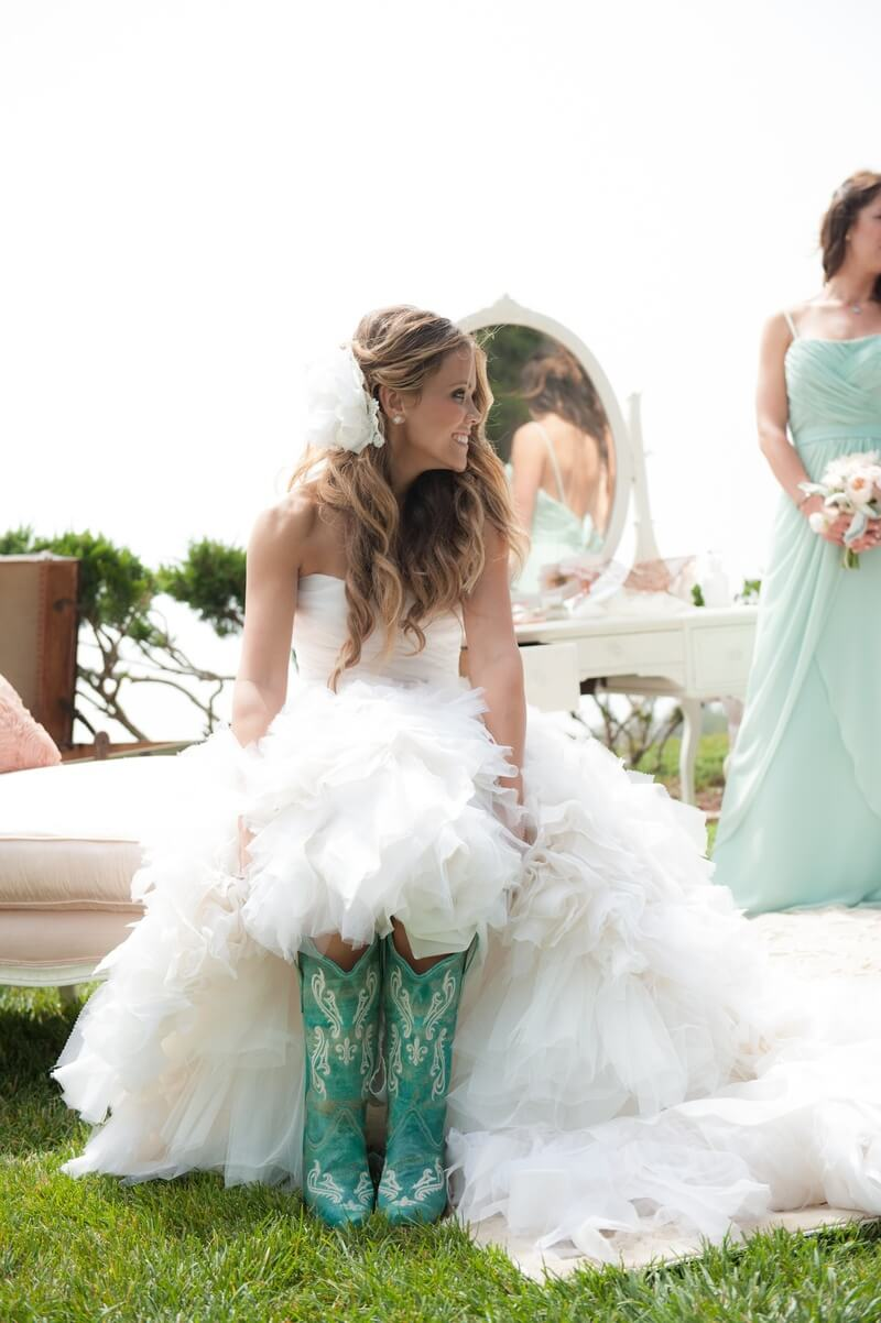 high low western wedding dresses photo - 1