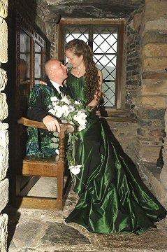 hunter green dresses wedding photo - 1