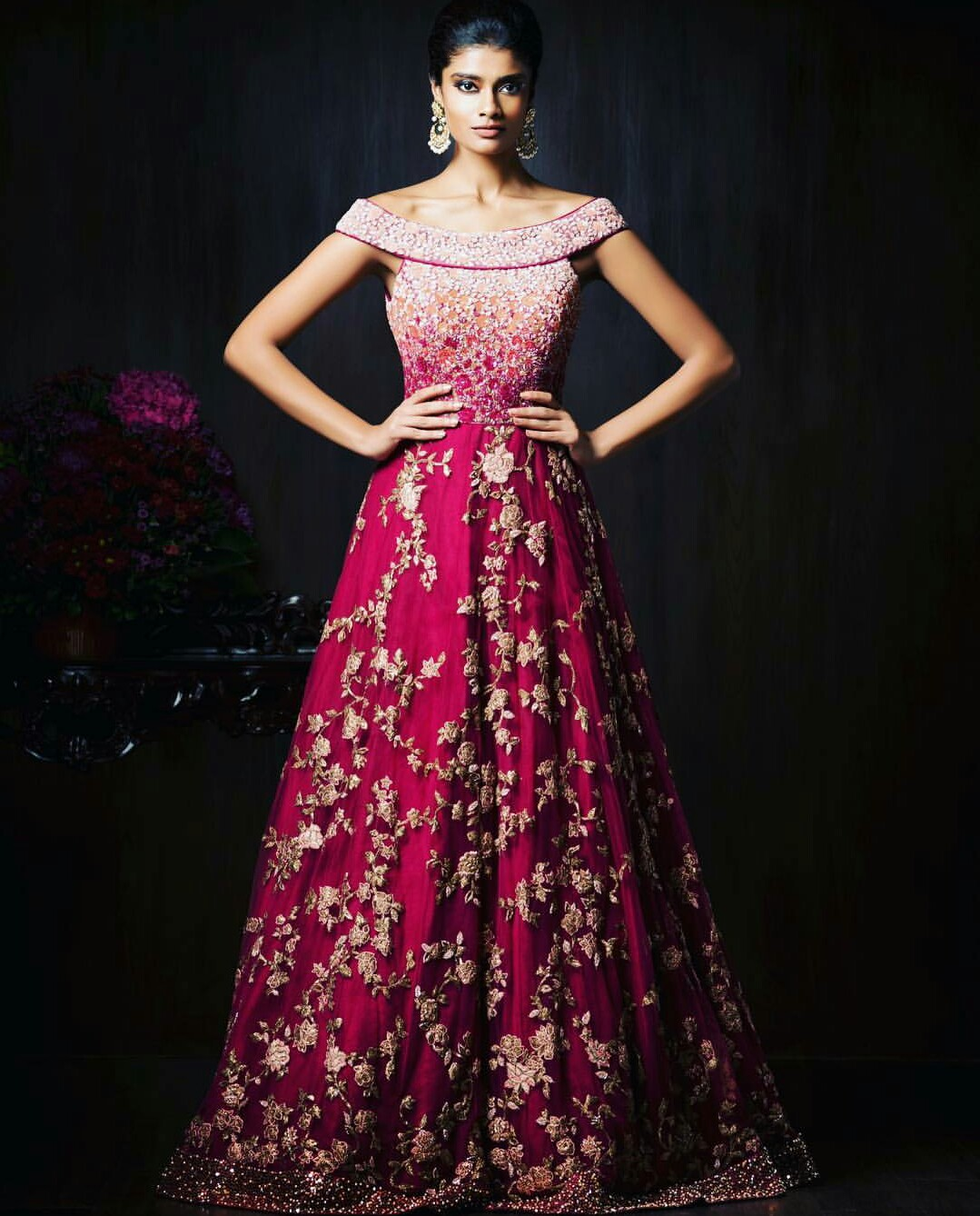 indian wedding reception dresses for the bride photo - 1