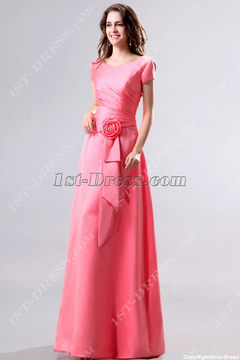 inexpensive modest wedding dresses photo - 1