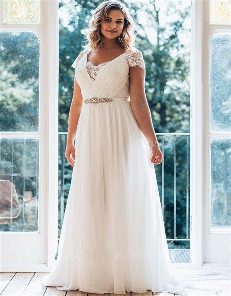 inexpensive plus size wedding dresses photo - 1