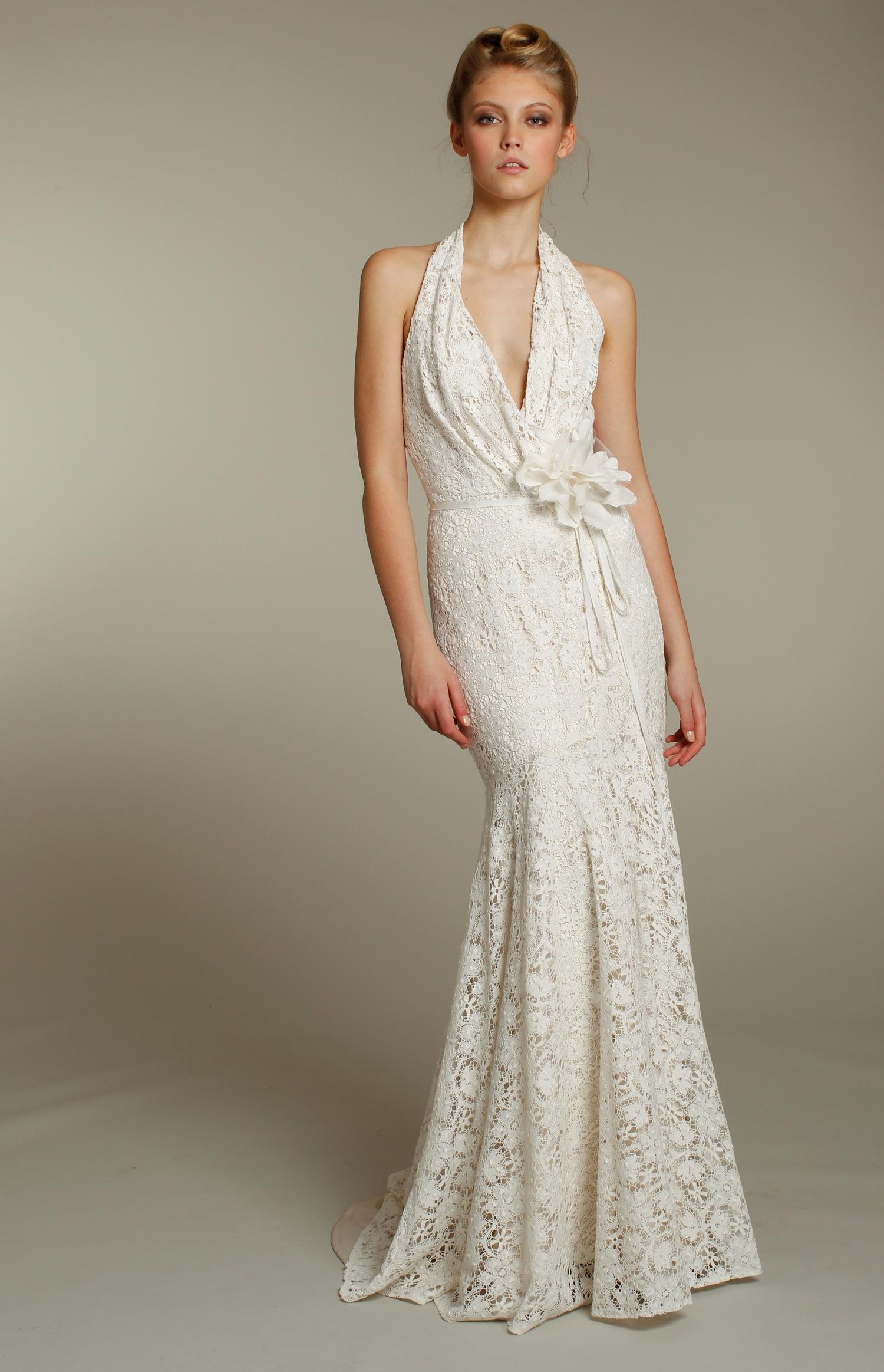 informal lace wedding dresses photo - 1